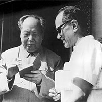 A picture of author Sid Rittenberg and Mao